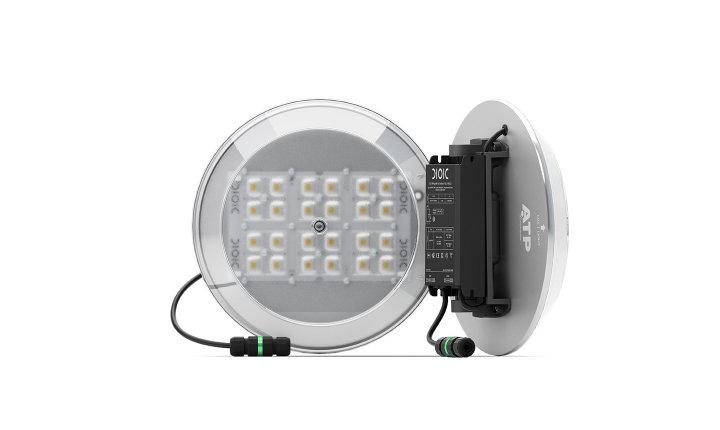 Detalle del KitLED® (modelo M), diseñado para actualizar cualquier luminaria a la tecnología LED de ATP.