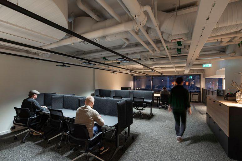 Oficinas de Fabege en cubículos y estilo minimalista
