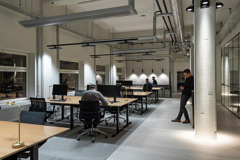 Oficina de Fabege y personas trabajando
