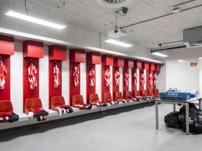 Vestuario PSV con iluminación de Signify