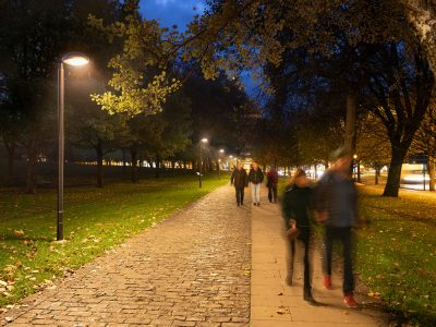 ATP iluminación alumbrado público exterior led temperatura de color cálida 2200 K- Vuelta del Castillo