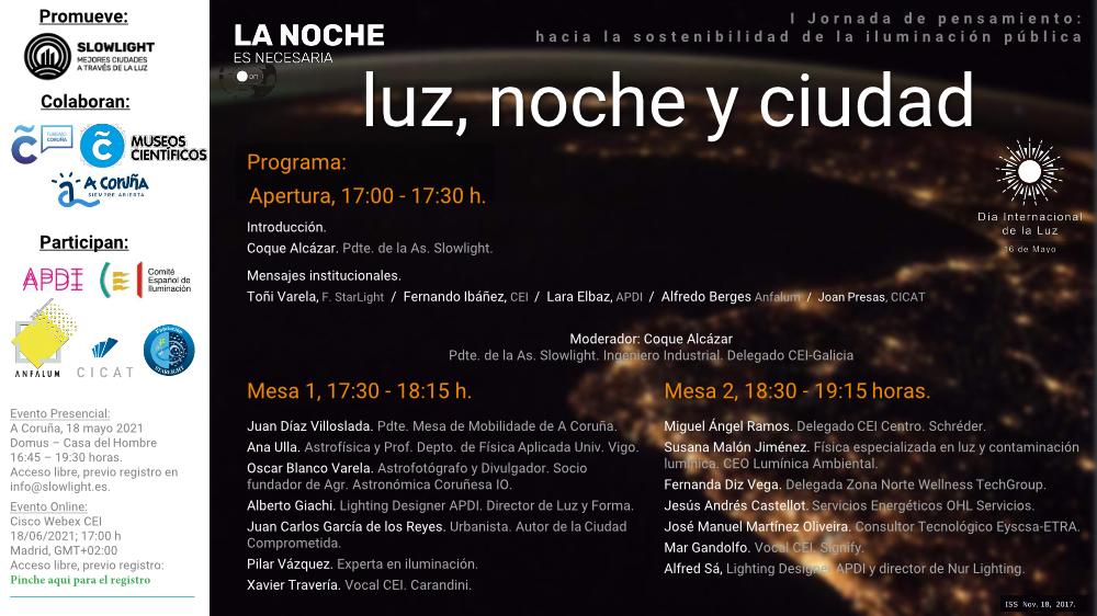 Programa 18M luz noche y ciudad