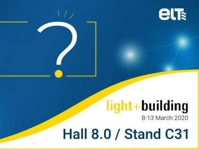 ELT en Light+Building 2020