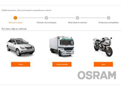 Buscador de lámparas para vehículos de Osram
