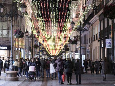 Iluminación navideña en la Calle Alfonso, Zaragoza