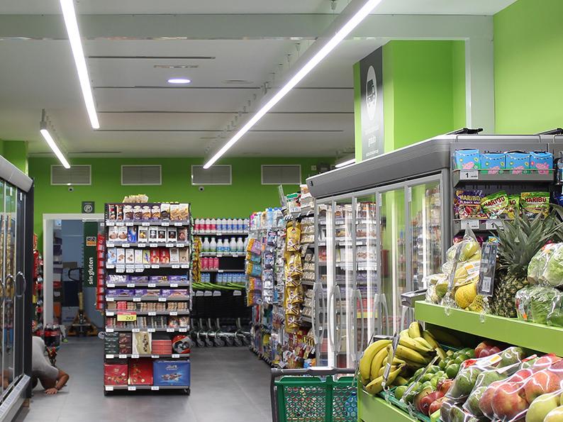 Secom Iluminación Carrefour Express