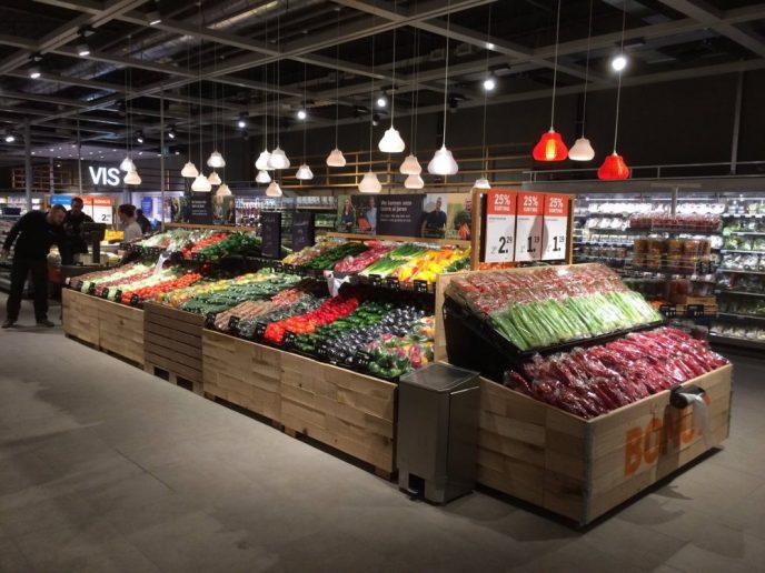 Alber Heijn Store, iluminada con luminarias 3D de Signify