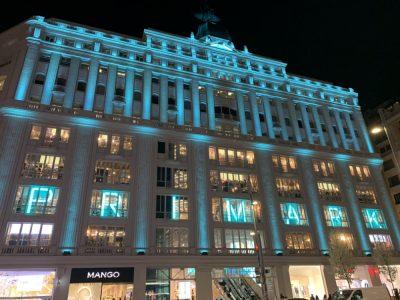 Edificio Gran Via iluminado con Signify