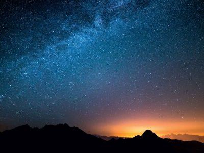 Cielo estrellado nocturno