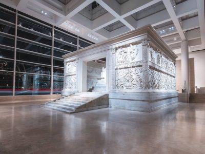 la modernización de Erco del Museo del Ara Pacis, Roma