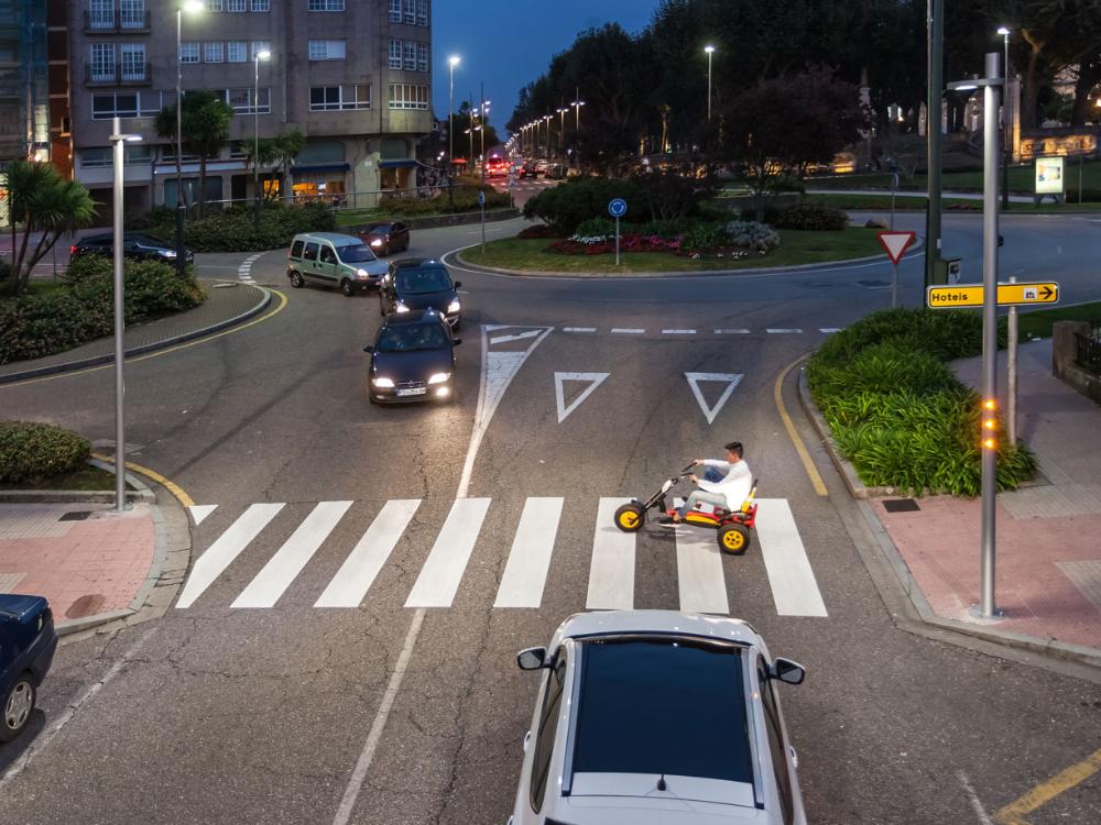 Paso de peatones iluminado con Prudenza de Setga