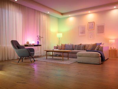 Habitación vacía iluminada con WiZ - Signify