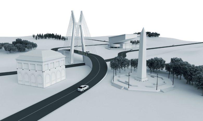 Modelo de ciudad con distintas aplicaciones de luminarias Thorn