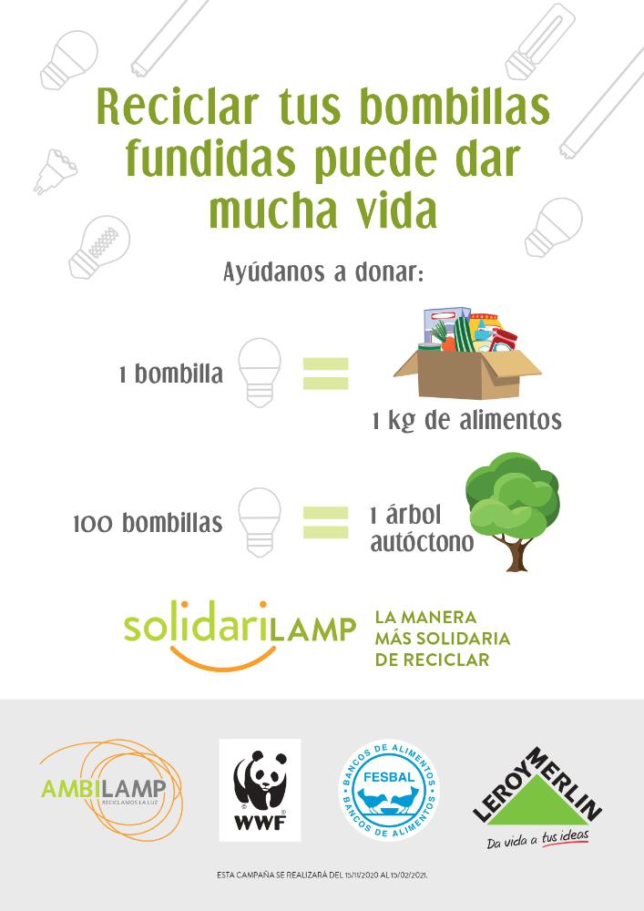 Cartel Ambilamp Solidarilamp